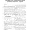 Constrained Global Optimization by Constraint Partitioning and Simulated Annealing