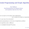 Constraint Programming and Graph Algorithms