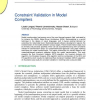 Constraint Validation in Model Compilers