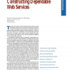 Constructing Dependable Web Services