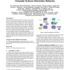 Construction and Analysis of Web-Based Computer Science Information Networks