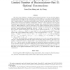 Constructions of Optical Queues With a Limited Number of Recirculations--Part II: Optimal Constructions