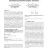 Constructive induction and genetic algorithms for learning concepts with complex interaction