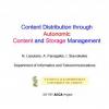 Content Distribution Through Autonomic Content and Storage Management