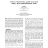 Content-weighted video quality assessment using a three-component image model