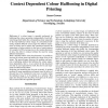 Context Dependent Colour Halftoning in Digital Printing