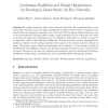 Continuum equilibria and global optimization for routing in dense static ad hoc networks