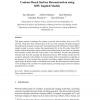 Contour-based surface reconstruction using MPU implicit models