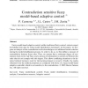 Contradiction sensitive fuzzy model-based adaptive control
