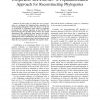 Cooperative Rec-I-DCM3: A Population-Based Approach for Reconstructing Phylogenies