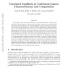 Correlated Equilibria in Continuous Games: Characterization and Computation
