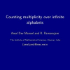 Counting Multiplicity over Infinite Alphabets