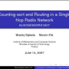 Counting-Sort and Routing in a Single Hop Radio Network
