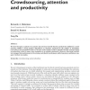 Crowdsourcing, Attention and Productivity