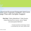 Customized Exposed Datapath Soft-Core Design Flow with Compiler Support