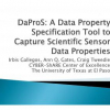 DaProS: A Data Property Specification Tool to Capture Scientific Sensor Data Properties