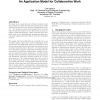 Data-knowledge-context: an application model for collaborative work