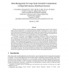 Data management for large-scale scientific computations in high performance distributed systems