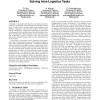 Decentralized hash tables for mobile robot teams solving intra-logistics tasks