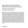 Decentralizing the control room: Mobile work and institutional order