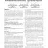 Decommitting in multi-agent execution in non-deterministic environment: experimental approach