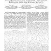 Decomposition for Low-Complexity Near-Optimal Routing in Multi-Hop Wireless Networks