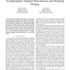 Delay Limited Capacity of Ad hoc Networks: Asymptotically Optimal Transmission and Relaying Strategy