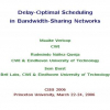Delay-optimal scheduling in bandwidth-sharing networks