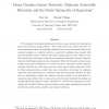 Dense Gaussian Sensor Networks: Minimum Achievable Distortion and the Order Optimality of Separation