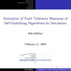 Derivation of Fault Tolerance Measures of Self-Stabilizing Algorithms by Simulation