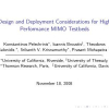 Design and deployment considerations for high performance MIMO testbeds