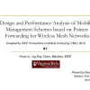 Design and Performance Analysis of Mobility Management Schemes Based on Pointer Forwarding for Wireless Mesh Networks