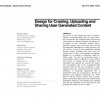 Design for creating, uploading and sharing user generated content
