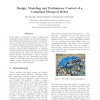 Design, Modeling and Preliminary Control of a Compliant Hexapod Robot