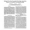 Design of a Fast Sequential Decoding Algorithm Based on Dynamic Searching Strategy