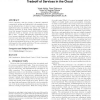 Design of a market-based mechanism for quality attribute tradeoff of services in the cloud
