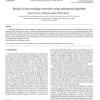 Design of heat exchanger networks using randomized algorithm