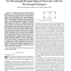 Design of Logical Topologies: A Linear Formulation for Wavelength Routed Optical Networks with No Wavelength Changers