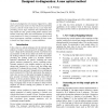 Designed -in-diagnostics: A new optical method