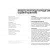 Designing technology for people with cognitive impairments