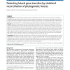 Detecting lateral gene transfers by statistical reconciliation of phylogenetic forests