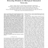 Deterministic graph-theoretic algorithm for detecting modules in biological interaction networks