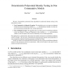 Deterministic Polynomial Identity Testing in Non-Commutative Models