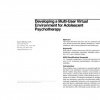 Developing a multi-user virtual environment for adolescent psychotherapy