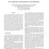 Device Independence and Extensibility in Gesture Recognition