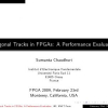 Diagonal tracks in FPGAs: a performance evaluation