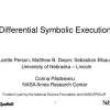Differential symbolic execution