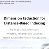 Dimension reduction for distance-based indexing