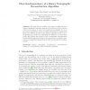 Direction-Dependency of a Binary Tomographic Reconstruction Algorithm