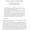 Discovery of Multi-Level Security Policies